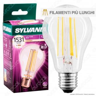 Sylvania ToLEDo Retro Lampadina LED E27 12W Bulb A67 Filamento Extra-Lungo
