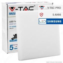 V-Tac PRO VT-620SQ Pannello LED Quadrato 20W SMD da Incasso con Driver con Chip Samsung - SKU 612