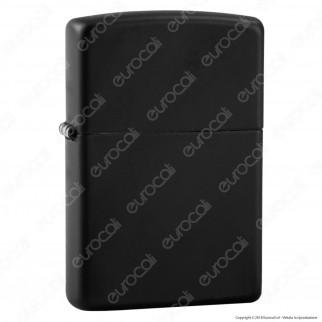 Accendino Zippo Mod. 218 Black Matte - Ricaricabile Antivento