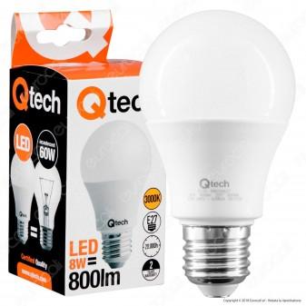 Qtech Lampadina LED E27 8W Bulb A60