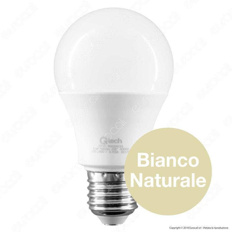 lampadina led e27 12w bulb a60 qtech. Black Bedroom Furniture Sets. Home Design Ideas