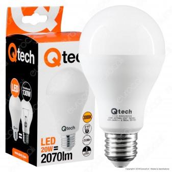 Qtech Lampadina LED E27 20W Bulb A70