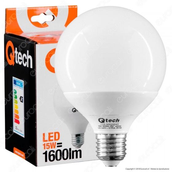 Qtech Lampadina LED E27 15W Globo G95