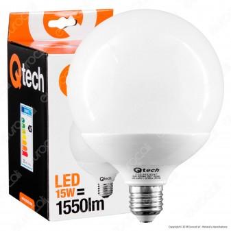Qtech Lampadina LED E27 15W Globo G120
