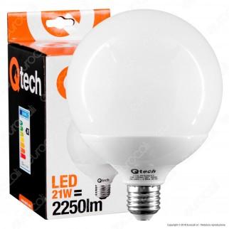 Qtech Lampadina LED E27 21W Globo G120