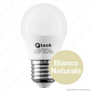 Qtech Lampadina LED E27 4W MiniGlobo G45