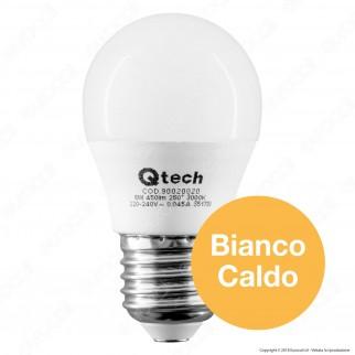 Qtech Lampadina LED E27 6W MiniGlobo G45