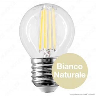 Qtech Lampadina LED E27 4W MiniGlobo G45 Filamento