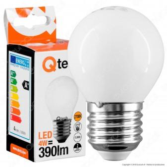 Qtech Lampadina LED E27 4W MiniGlobo G45 White Filamento