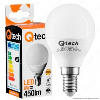 Qtech Lampadina LED E14 6W MiniGlobo P45