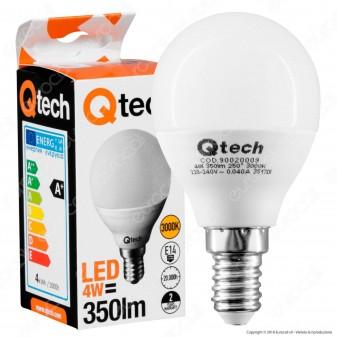 Qtech Lampadina LED E14 4W MiniGlobo P45