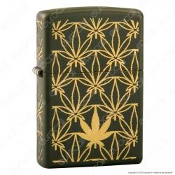 Accendino Zippo Mod. 29589 Marijuana Pattern - Ricaricabile Antivento
