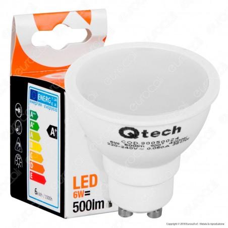Qtech Lampadina LED GU10 6W Faretto Spotlight 100° - mod. 90050023 / 90050024 / 90050025