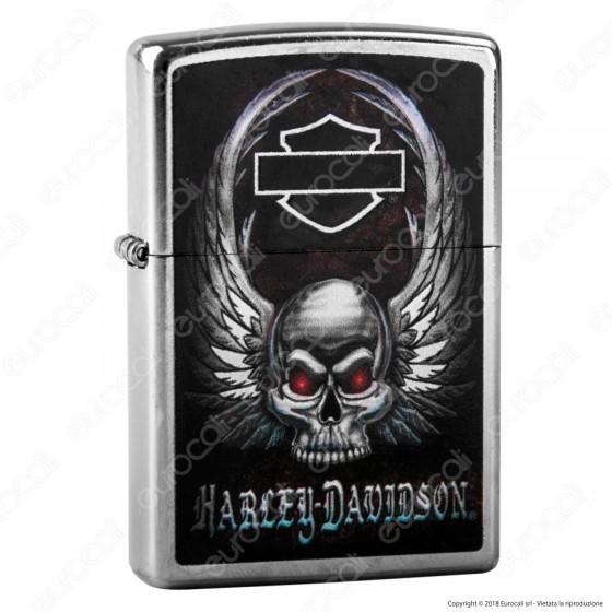 Accendino Zippo Mod. 29558 Harley-Davidson® Skull - Ricaricabile Antivento