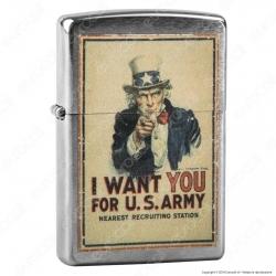 Accendino Zippo Mod. 29595 US Army - Ricaricabile Antivento