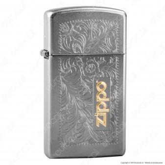 Accendino Zippo Mod. 1605 Slim Venetian Two Tone - Ricaricabile Antivento