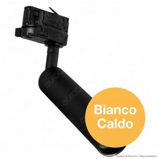 V-Tac PRO VT-407 Track Light LED COB 7W Colore Nero Chip Samsung - SKU 353