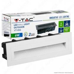 V-Tac VT-856 Faretto Segnapasso LED da Incasso Rettangolare 6W Colore Bianco - SKU 8352 / 8353