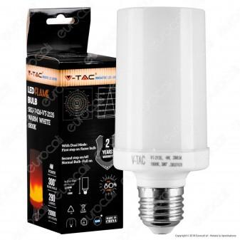 V-Tac VT 2135 Lampadina LED Flame E27 4W Copertura Opaca - SKU 7426
