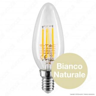V-Tac VT-2127 Lampadina LED E14 6W Candela Filamento - SKU 7423 / 7424 / 7425