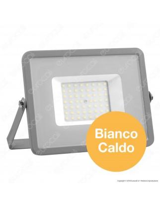 V-Tac PRO VT-50 Faro LED SMD 50W Ultrasottile Chip Samsung da Esterno Colore Grigio - SKU 463 / 465