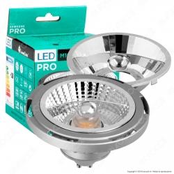 Marino Cristal Serie PRO Lampadina LED GU10 16W Faretto Spotlight Grigio AR111 25-45° - mod. 21397