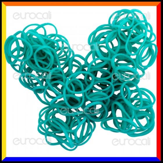 Loom Bands Elastici Colorati Verde Acqua - Bustina da 600 pz