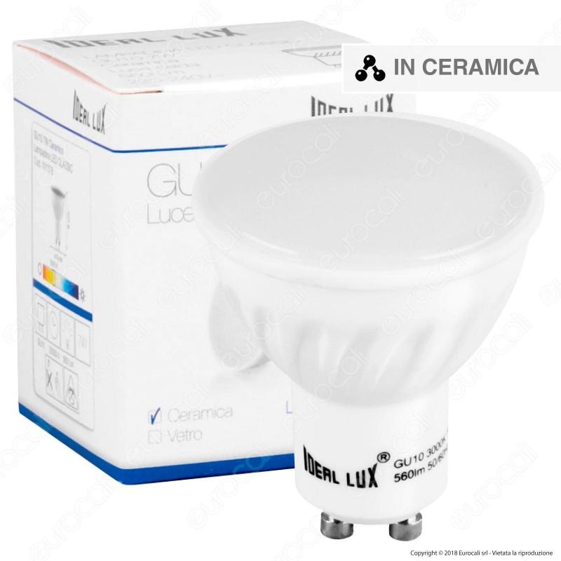 Ideal Lux Lampadina LED GU10 7W Faretto Spotlight in Ceramica