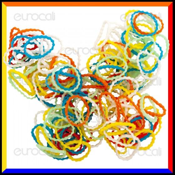 Loom Bands Elastici Ondulati Colorati - Bustina da 600 pz