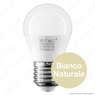 V-Tac PRO VT-245 Lampadina LED E27 4,5W MiniGlobo G45 Chip Samsung - SKU 262 / 263