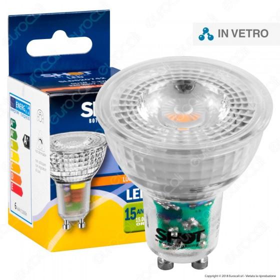 Bot Lighting Shot All Glass Lampadina LED GU10 6,2W Faretto Spotlight 60°