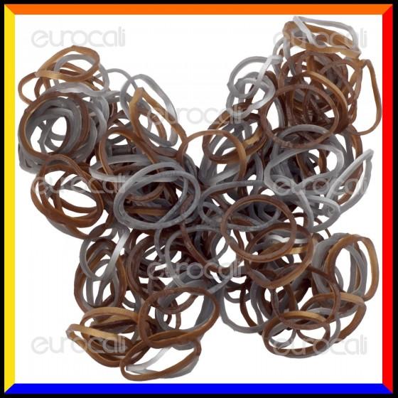 Loom Bands Elastici Colorati Oro / Argento - Bustina da 600 o 1000 pz
