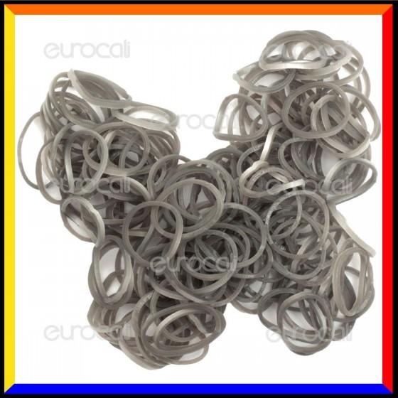 Loom Bands Elastici Colorati Argento - Bustina da 600 o 1000 pz