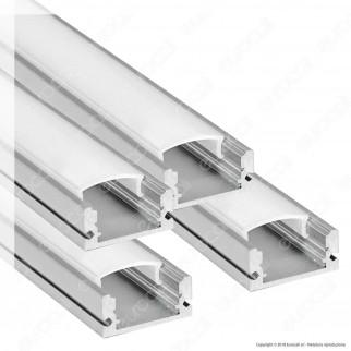 V-Tac 4 Profili in Alluminio per Strisce LED Copertura Opaca - Lunghezza 2 metri - SKU 9993
