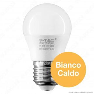 V-Tac PRO VT-245 Lampadina LED E27 4,5W MiniGlobo G45 Chip Samsung - SKU 261 / 262 / 263