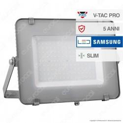 V-Tac PRO VT-150 Faro LED SMD 150W Ultrasottile Chip Samsung da Esterno Colore Grigio - SKU 481 / 482 / 483