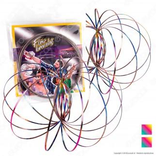 Kit Champ Flow Bracelet Bracciale 3D a Molla Multigioco Argento - 2 Bracciali