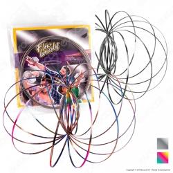 Kit Champ Flow Bracelet Bracciale 3D a Molla Multigioco Argento e Rainbow - 2 Bracciali