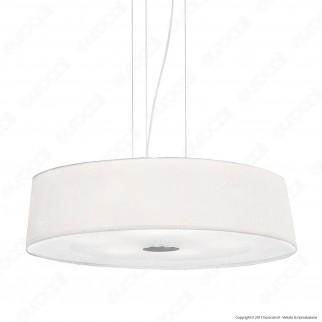 Ideal Lux Hilton SP4 Round Lampadario in Metallo con Portalampada per Lampadine E27 - mod. 75501