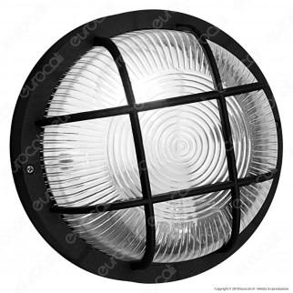 Velamp Bubble Plafoniera in Vetro per Lampadine E27 IP44 - Colore Nero