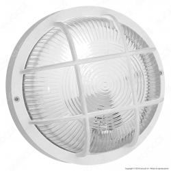 Velamp Bubble Plafoniera in Vetro per Lampadine E27 IP44 - Colore Bianco - mod.BUBBLE-B