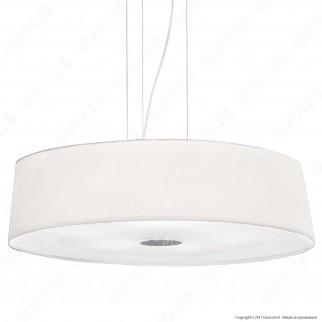 Ideal Lux Hilton SP6 Lampadario in Metallo con Portalampada per Lampadine E27 - mod. 75518