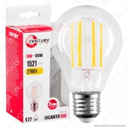 Century Lampadina LED E27 10W Bulb A67 Filamento - mod. ING3-102727