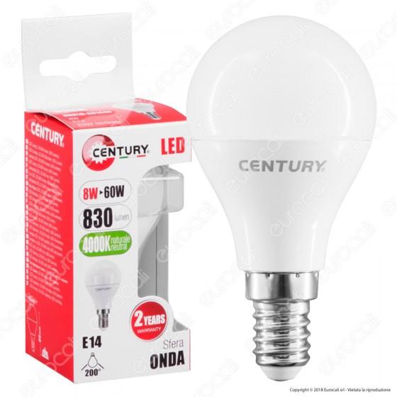 Century Lampadina LED E14 8W MiniGlobo P45