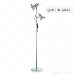 Ideal Lux Polly PT2 Lampada da Terra in Metallo con Portalampada per Lampadine E27 - mod. 61122 / 61139