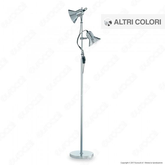 Ideal Lux Polly PT2 Lampada da Terra in Metallo con Portalampada per Lampadine E27