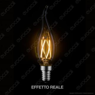 LED Line Lampadina LED E14 4W Candela Fiamma Filamento Grafene