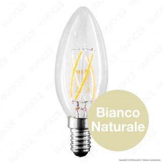 LED Line Lampadina LED E14 4W Candela Filamento Grafene