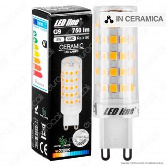 LED Line Lampadina LED G9 8W Bulb Ceramic