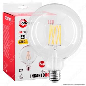 Century Lampadina LED E27 10W Globo G125 Filamento